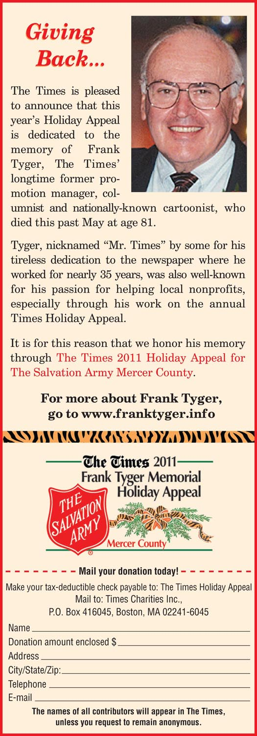 Frank Tyger - 2001 Holiday Appeal